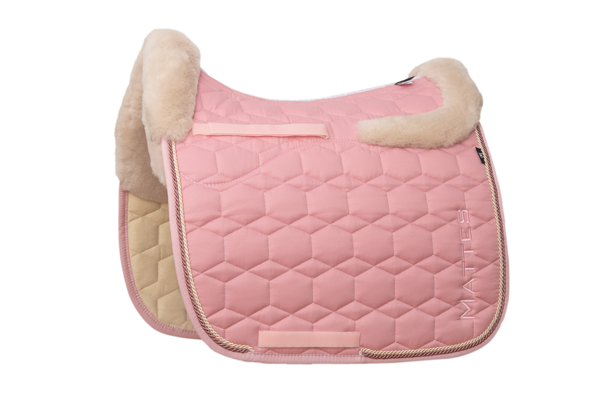 Mattes Schabracke blush pink