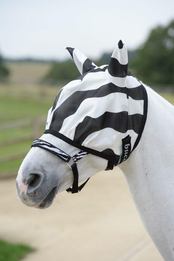 Bucas Buzz-Off Zebra Fliegenmaske