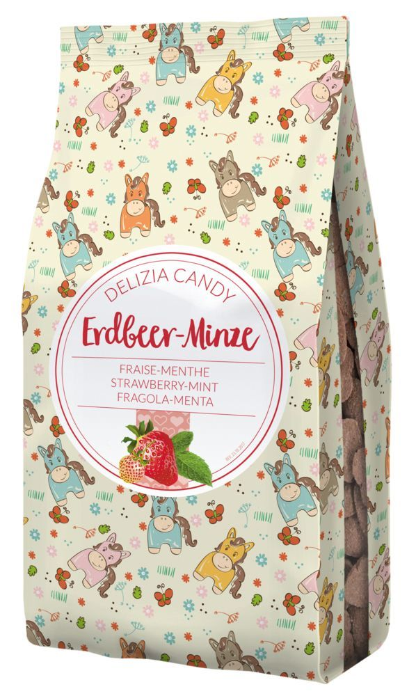 Delizia Candy Erdbeere/Minze in Sternform 600g