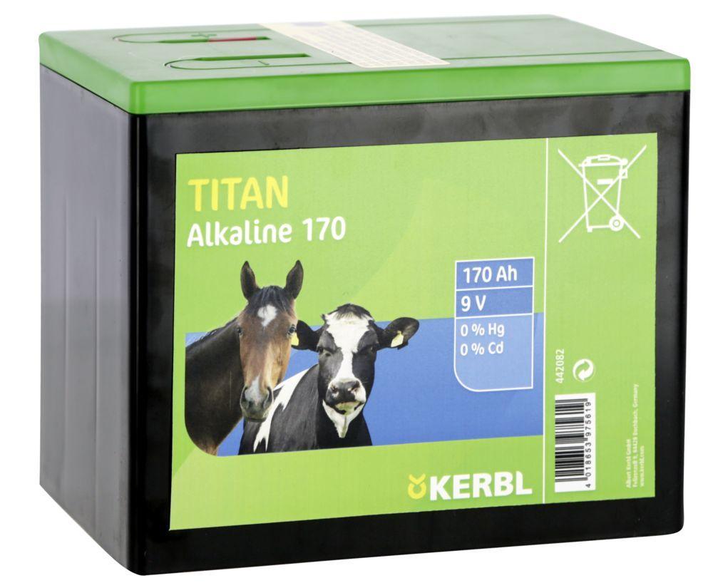 TITAN Alkaline Batterie 9 V, 170 AH