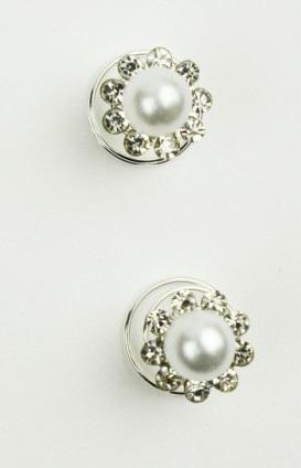 Einflechtblumen Perle/Strass 12er Set