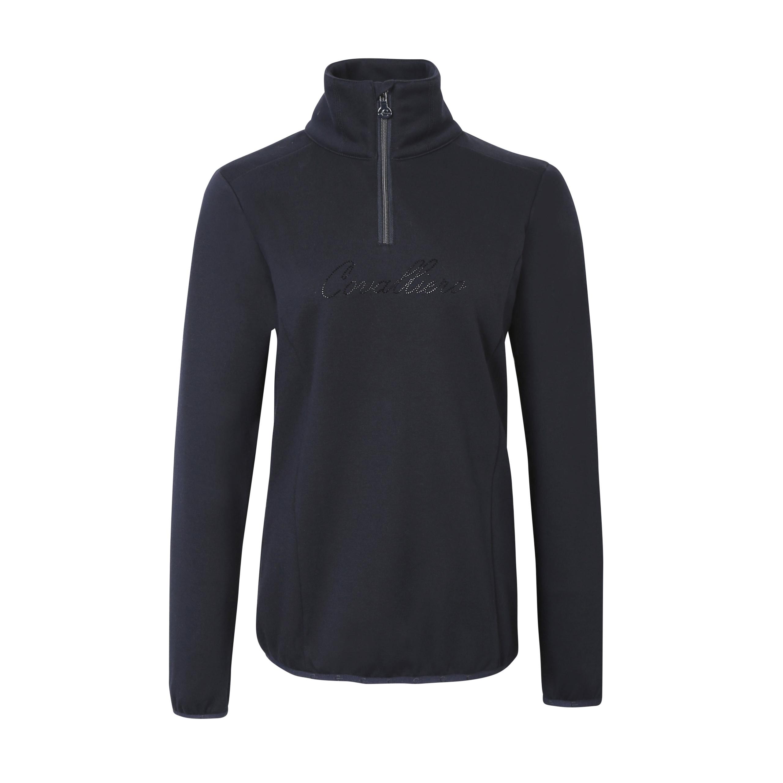 Covalliero Sweater mit hohem Kragen und Reißverschluss