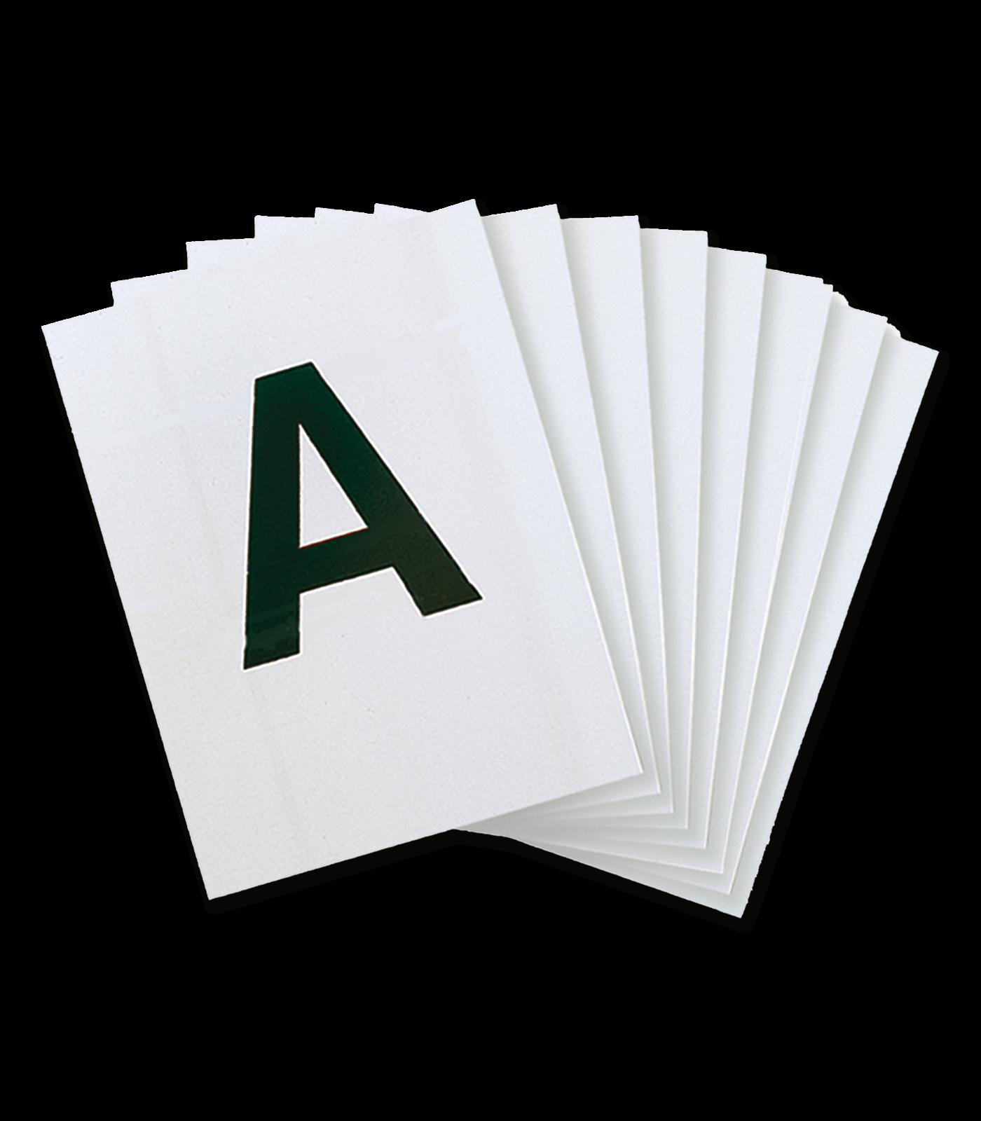 Bahnbuchstaben 20x60m Viereck