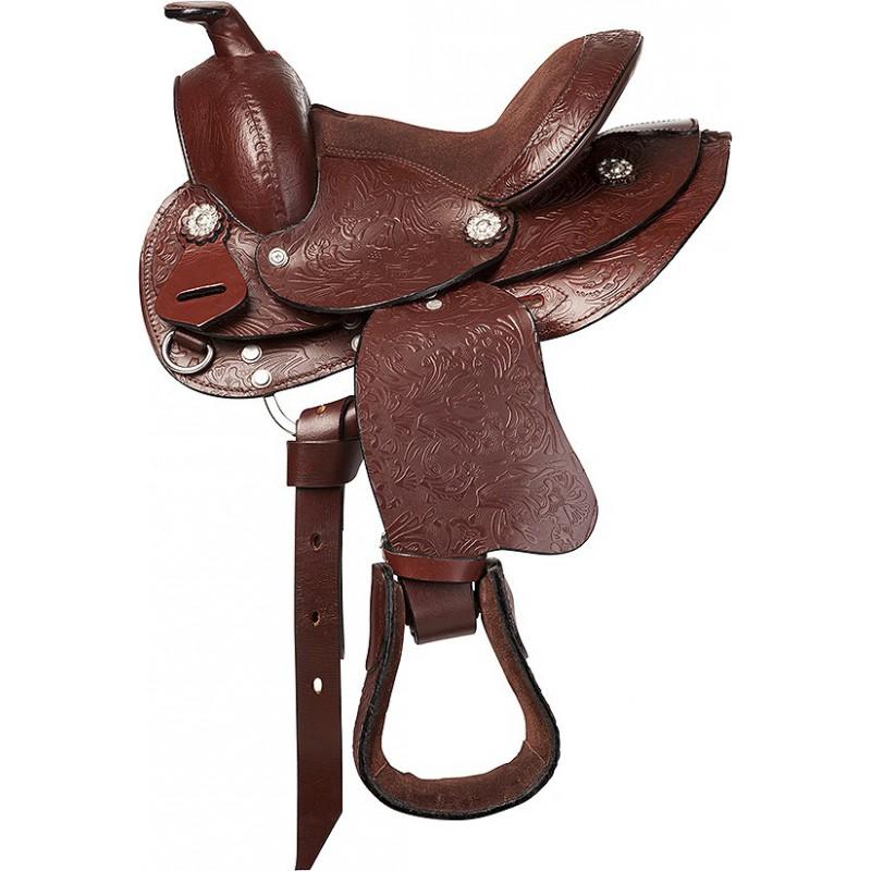"""Westernsattel 8"""" Topeka Shetty/Pony"""