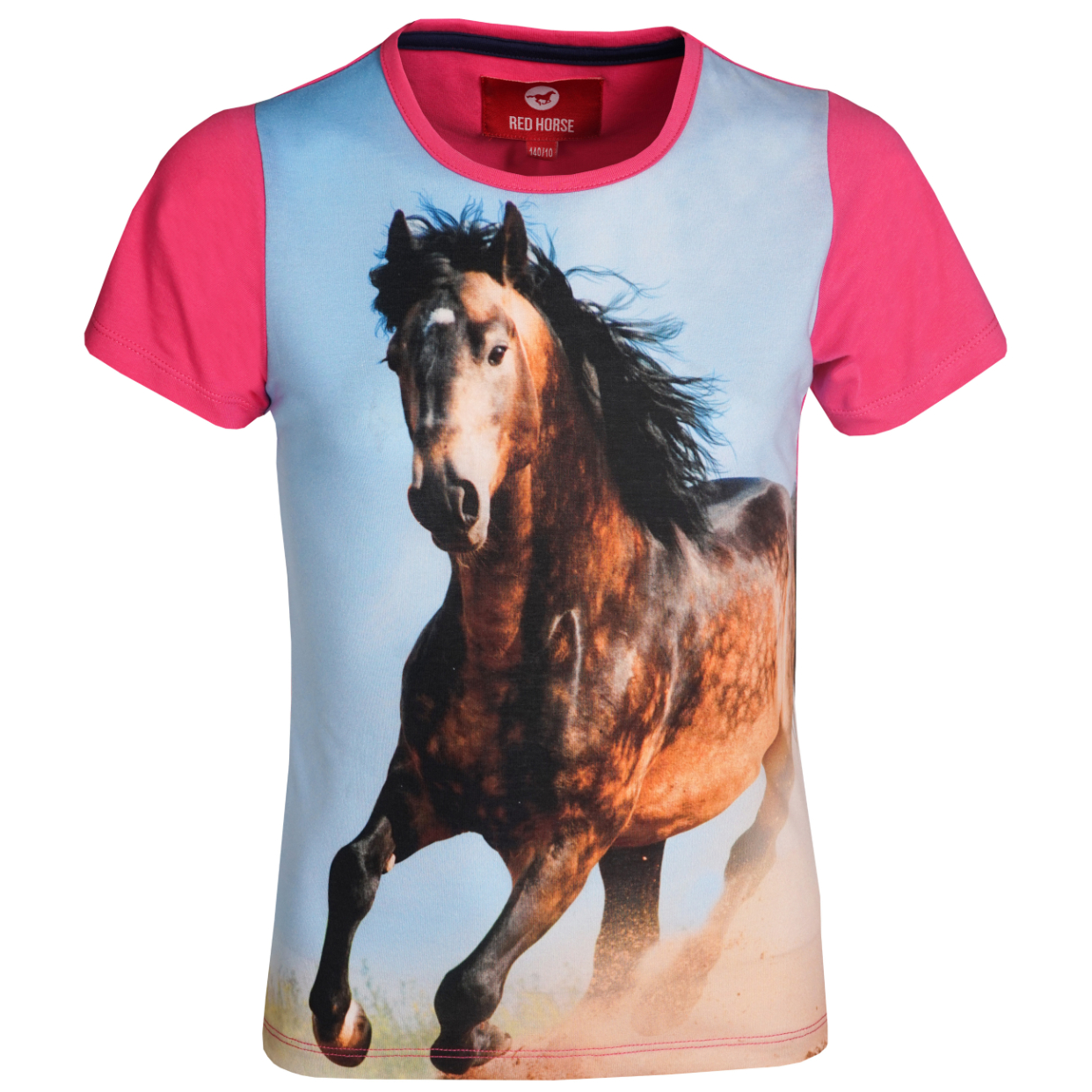 Kinder T-Shirt Horsy Magenta