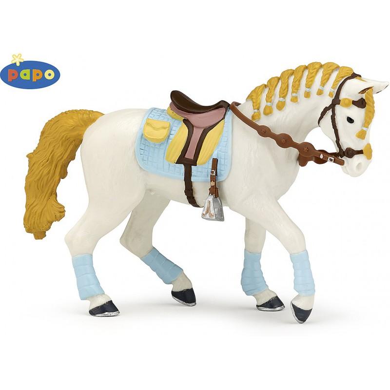 Papofigur Pferd der blauen Reiterin