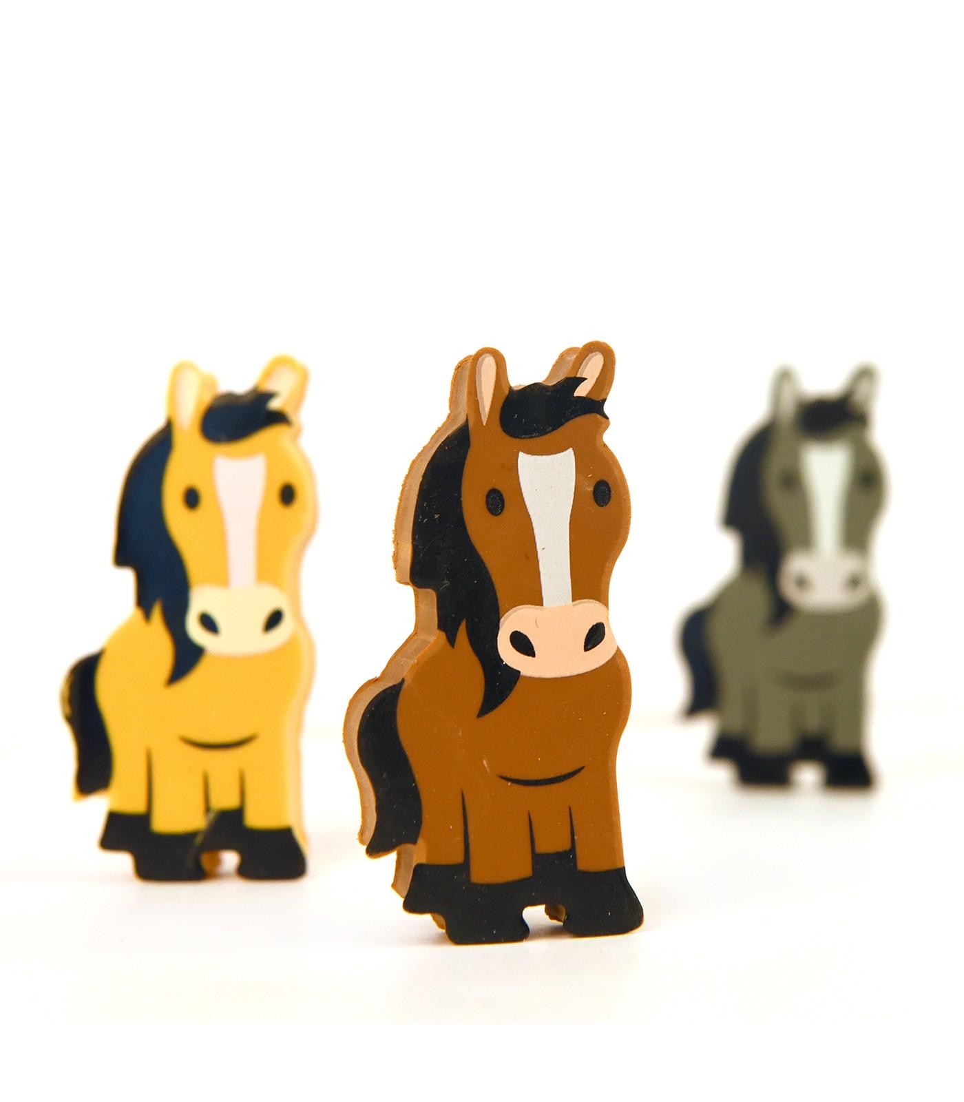 Radiergummi 3 Pferde im Stall