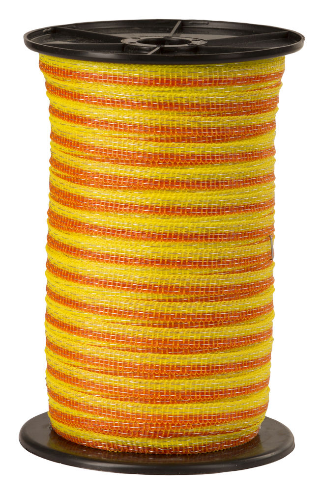 Basic Classe-Weideband, 250m 10mm, gelb-orange, 4x 0,16 Niro