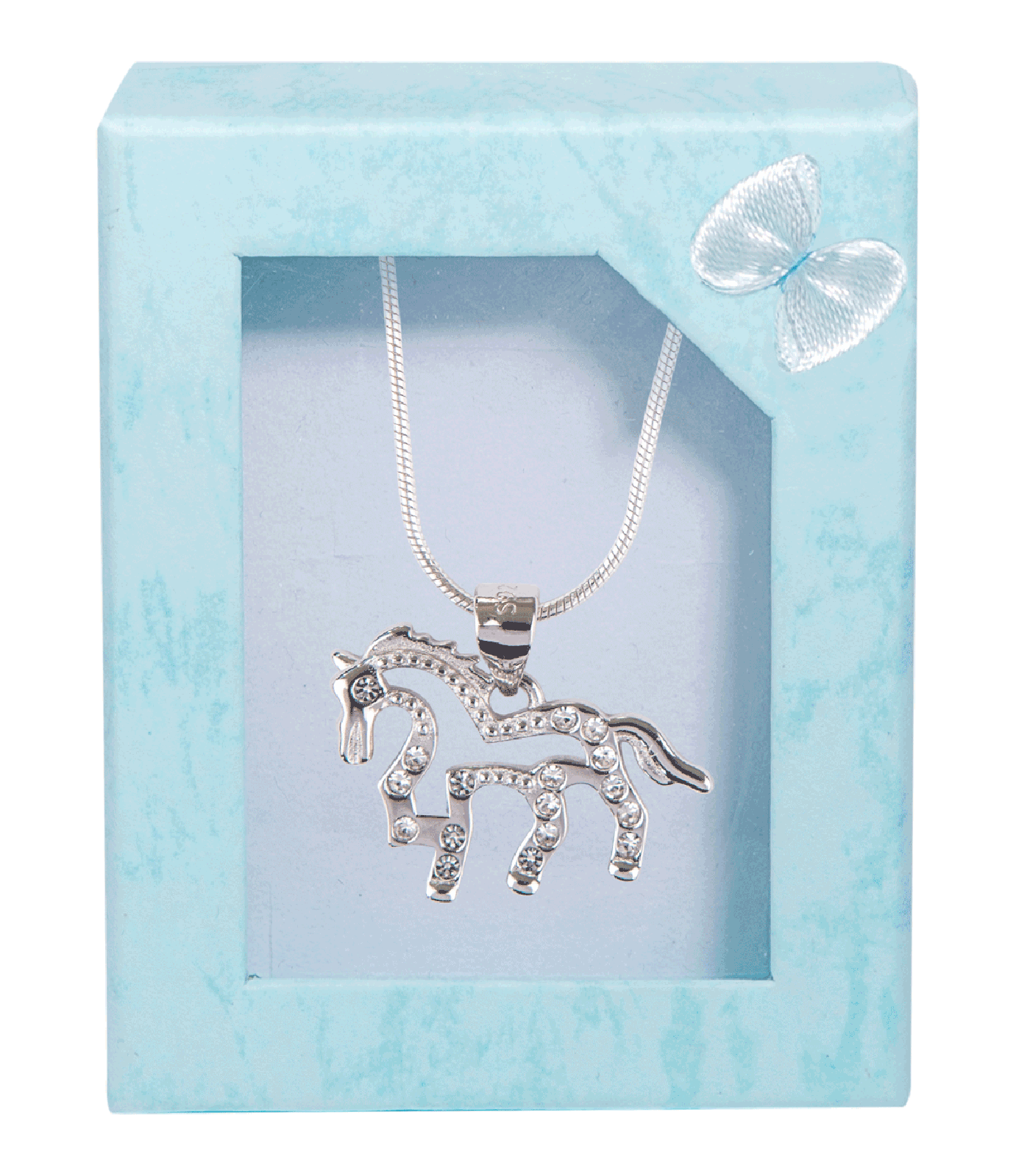Halskette Pferd 925 Sterling-Silber