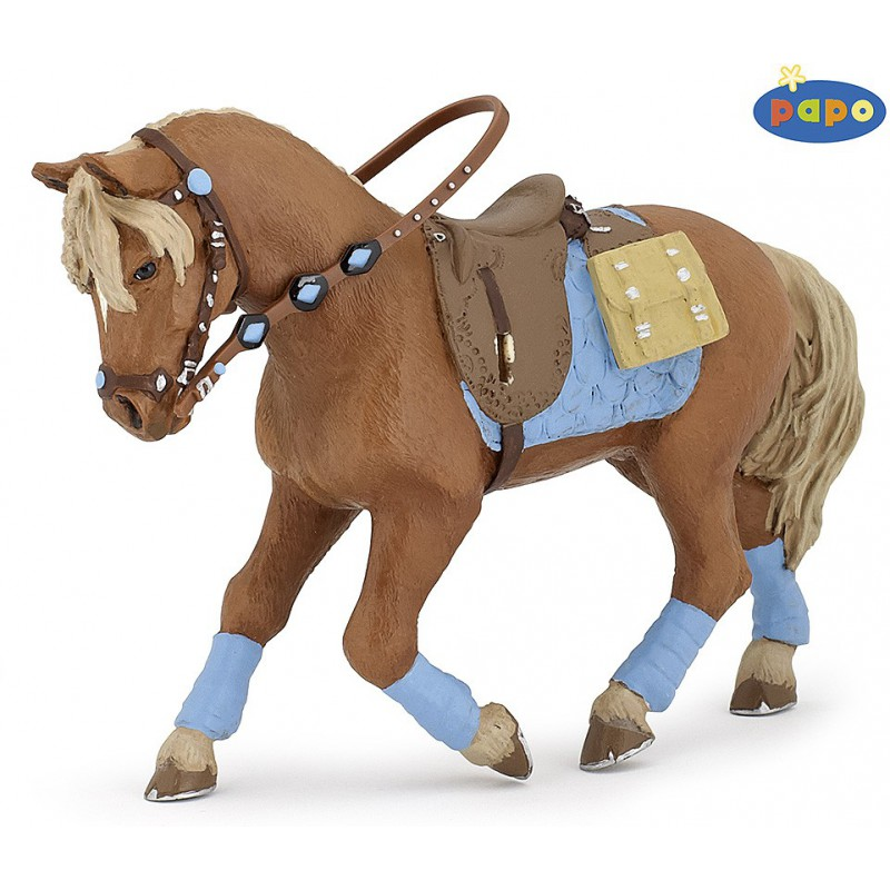 Papofigur Pferd des jungen Reiters