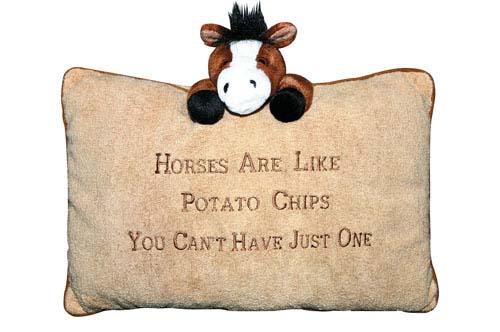 Horses are like Potatochips Plüschkissen