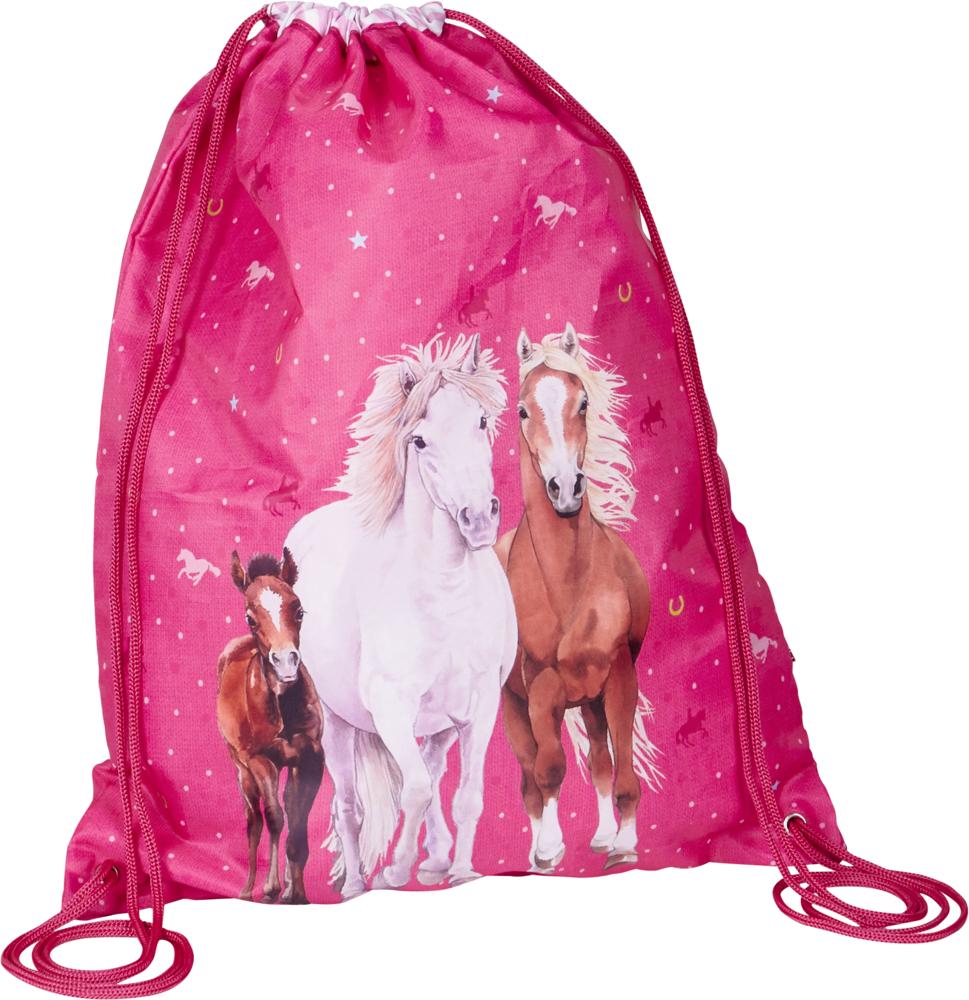 Pferdefreunde Sportbeutel pink