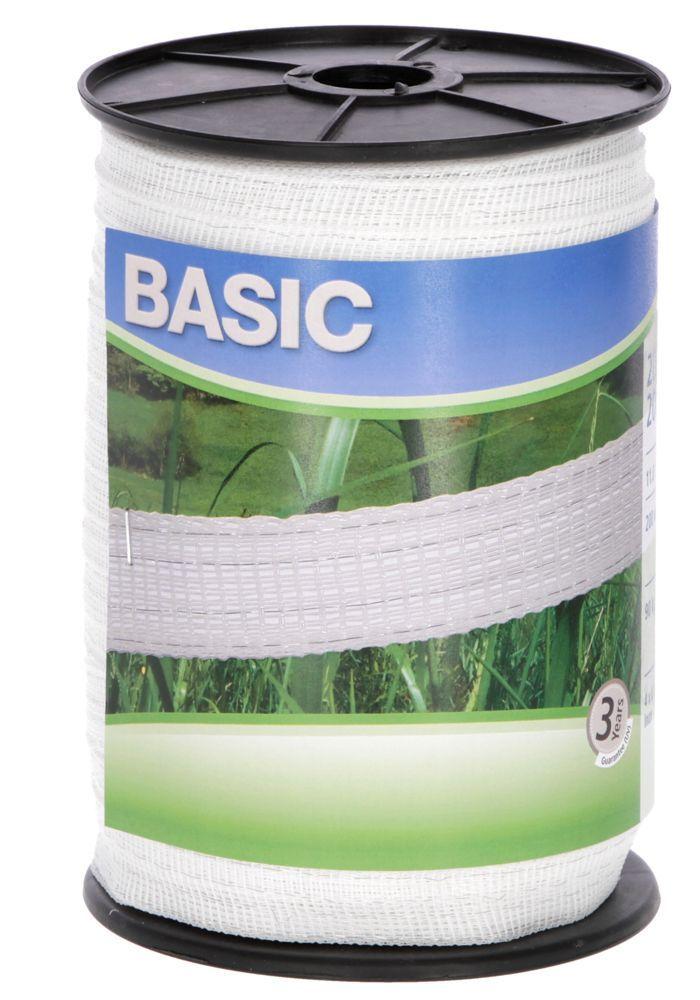 Basic Classe-Weideband, 200m 20mm, weiß 4x 016 Niro