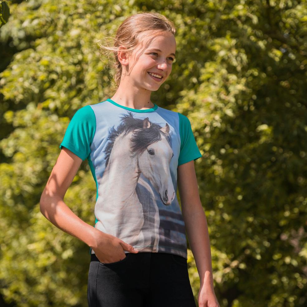 Kinder T-Shirt Horsy Emerald