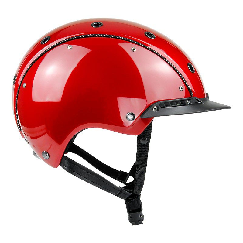 Casco Champ-3 rot metallic glanz