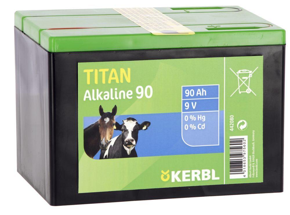 TITAN Alkaline Batterie 9 V, 90 AH