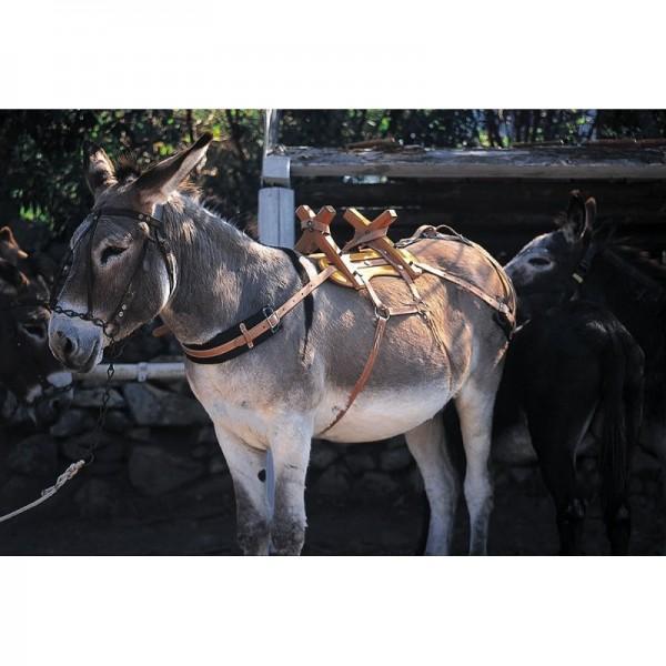 Packsattel für Esel aus Holz
