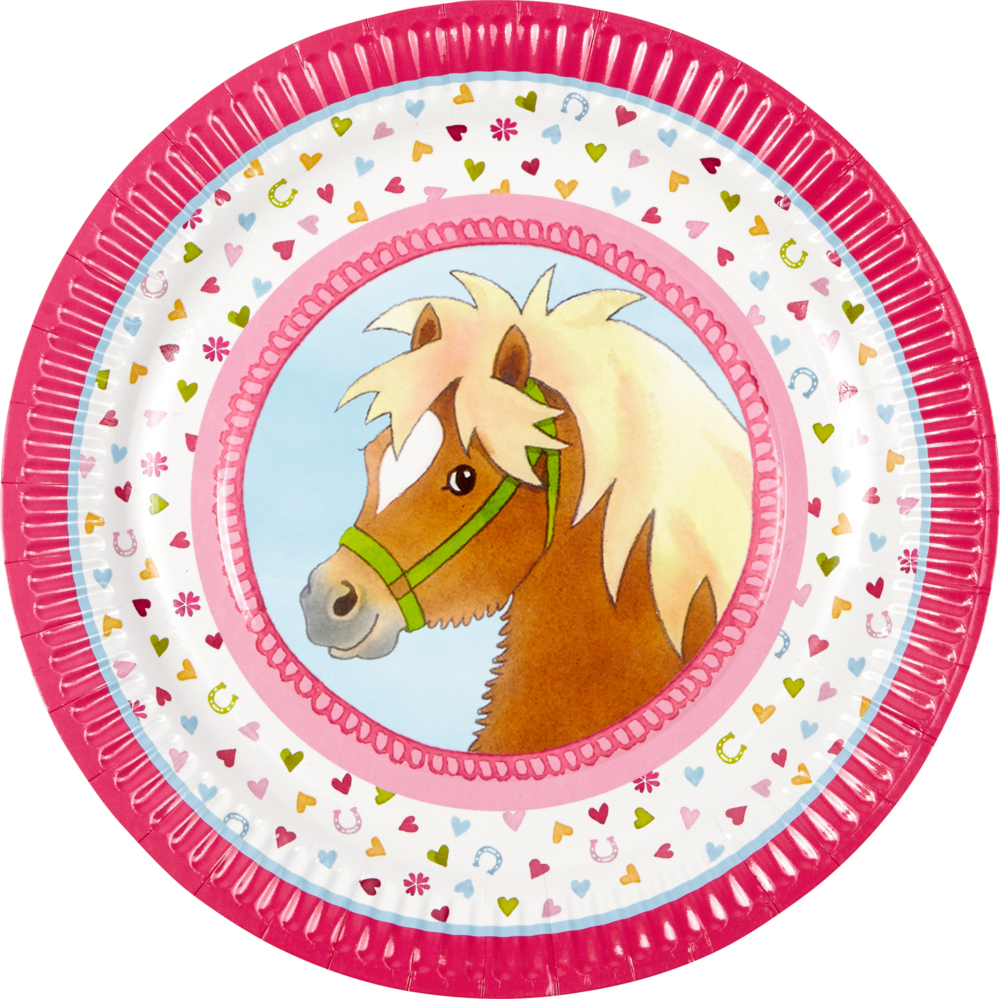 Ponyhof Partyteller 8er- Set