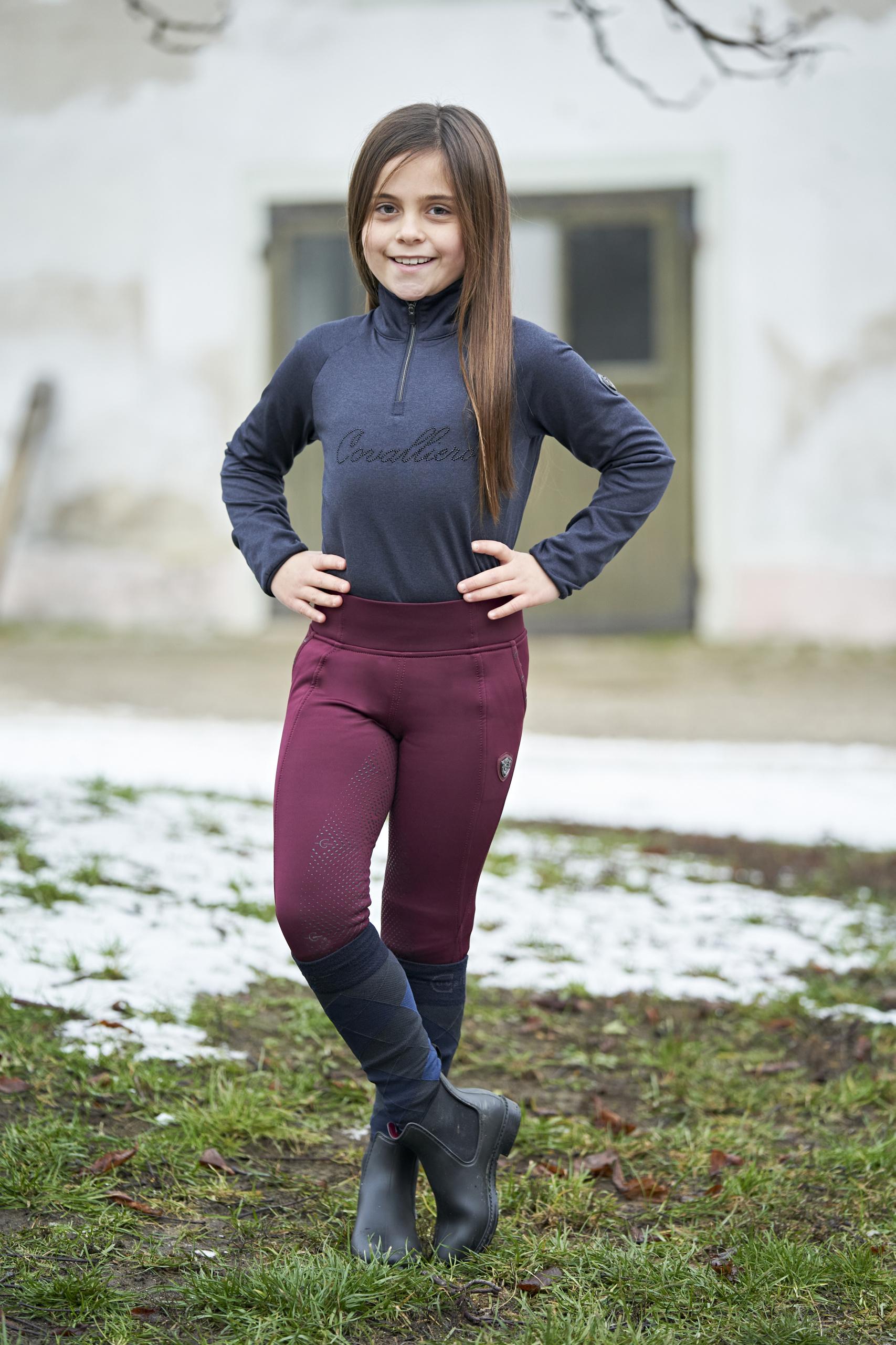 Covalliero Kinder Winter- Riding Tight  Silikon- Vollbesatz